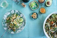 Sriracha Rainbow Noodle Salad