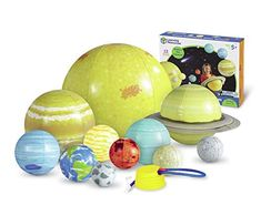 Learning Resources Giant Inflatable Solar System, 12 Pieces, 8 Planets, Grades K+/Ages - Toys 8 Planets, Solar System Planets, Solar System Activities, Activities For Kids, Outer Space Party, Sun And Earth, Giant Inflatable, Interactive Toys, Creative Play