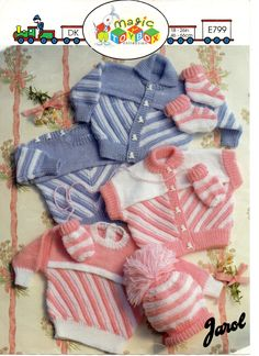 Vintage Baby/Childs Knitting Pattern DK Double Knitting