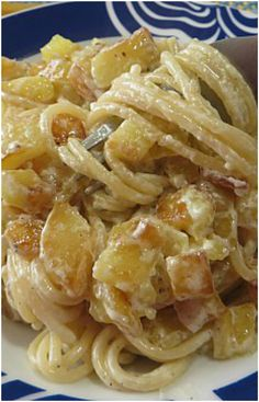 Spaghetti e patate, squisiti!! #spaghetti #patate #primipiatti #ricettegustose