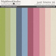 Just Linens Paper Pack No. 76- Maplebrook Studios Papers- PP651291- DesignerDigitals