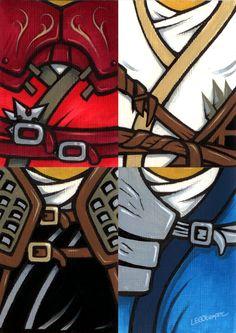 Lego+Ninja+(sketch+cards)+by+skcolb.deviantart.com+on+@deviantART