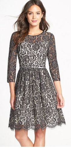 Gorgeous fit & flare lace dress - on sale for 40% off!