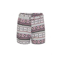 Yoins Culotte Shorts In Festival Print With Belt ($18) ❤ liked on Polyvore featuring shorts, black, culottes shorts, loose fit shorts and loose shorts