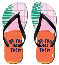 I Love You Emotions Stylish Lightweight Women's Men's Personalized Beach Flip Flops Beach Slippers