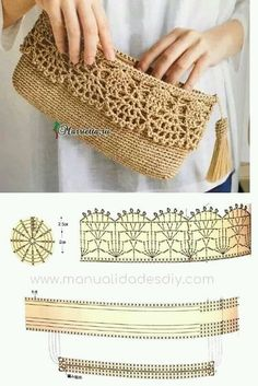 Discover thousands of images about Best 12 Purse bag crochet pattern salvabrani – Artofit Crochet Clutch Bags, Crochet Wallet, Crochet Purse Patterns, Crochet Pouch, Crochet Handbags, Crochet Purses, Crochet Bags, Crochet Backpack, Clutch Purse