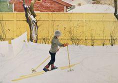 §§§ . The Skier ~ Carl Larsson