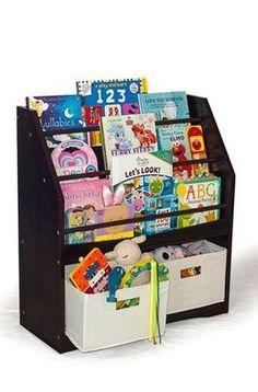 Renewed Steel Book Rack Organizer with Side Pocket Book Display Stand STORAGE MANIAC Sling Bookshelf