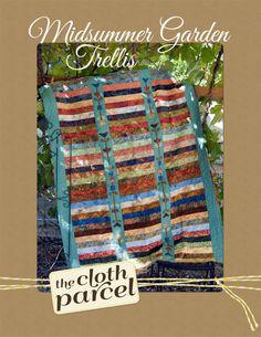 Midsummer Garden Trellis Quilt PDF Pattern by TheClothParcel, $10.00