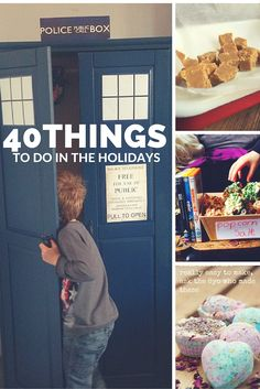 40 things to do at half term, fill the school holidays with over 40 ideas for crafts bakes, days out and days in.