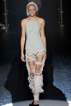 3. Deconstructionist fashion design.