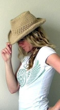 Cowboy Hat Crochet Pattern/  Maybe I can not destroy this one.