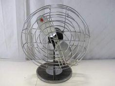 Vintage Gray Steel Fan By Universal Electric Co.