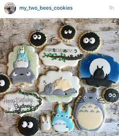 Cute Snacks, Cute Desserts, Cute Food, My Neighbor Totoro, Cute Cookies, Chocolate Factory, Royal Icing Cookies, Cookie Designs, Miyazaki