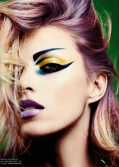 Creative Colour Bright Bold Stand Out Makeup Shadow Girl Fashion Eyes Body Style