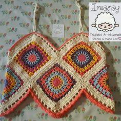 Top Boho hecho a mano en croch