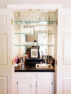 Glass shelves Kitchen Wall - - Stained Glass shelves - Floating Glass shelves Bar - Glass shelves In Bathroom Niche