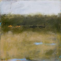 Contemporary Abstract Landscape Painting 24x24 -original fine art west elm artist