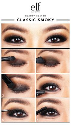 I know a classic smoky eye can be intimidating, but practice this step-by-step and you should be good. | 18 Eye Makeup Cheat Sheets If You Don't Know WTF You're Doing