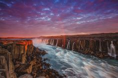 Selfoss, The Most Powerful Waterfall Of Europe, Iceland Photography By: Sandro Bisaro