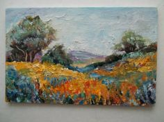 Gail Grant American plein air impressionist oil painting California poppies