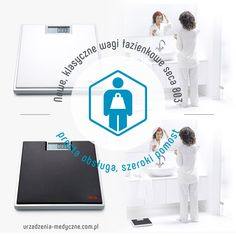 Prosta, płaska waga łazienkowa w wygodnym szerokim pomostem.  Waga uruchamiana na dotyk z dużym, czytelnym wyświetlaczem.  Waga do użytku domowego.  Gwarancja 24 miesiące