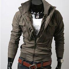 Details about Mens Classic Design Slim Short Style Coats Jackets