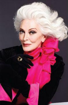 Carmen Dell'Orefice, MODEL Desde hace años que te admiro. Con 81 años y está mejor que antes, increible!