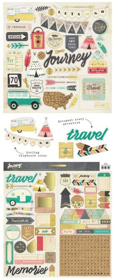 "Click to see this super cute Crate Paper ""Journey"" collection! It's from the January CHA 2015 release"