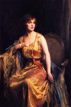 """Miss Irene Hirst, later the Hon. Mrs Rose"" (1921) by Philip Alexius de László (1869-1937)."