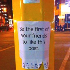 """I think this is a perfect example of """"likable"""" social media.Okay, maybe not but it's funny? It's also & Hennepin downtown Minneapolis. Facebook Humor, For Facebook, Facebook Poster, Facebook News, Social Media Humor, College Humor, Thats The Way, Funny Signs, Just For Laughs"""