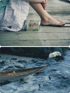 oh deer. (in jar, on a boat).