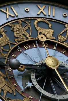 Close up of Astrological clock in Prague ... with Sagittarius in view!!