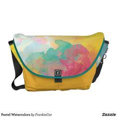 Pastel Watercolors Messenger Bag