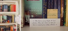 The couple's favorite books as wedding favors. :)