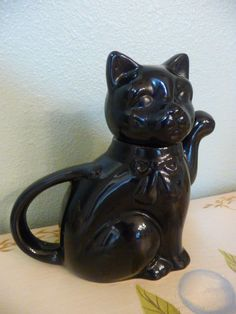 Black Cat Teapot $25