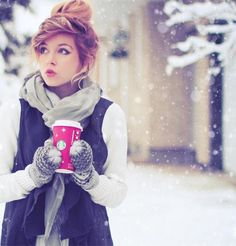 cute winter hair and style