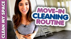 Move-in Cleaning Routine! (Clean My Space) - YouTube