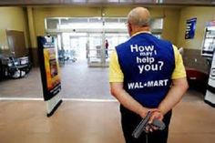 Even Walmart greeters have limits. I dont know whether to laugh or be concerned... :*