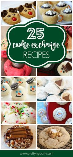 Get ready for your holiday cookie swap with these 25 holiday cookie exchange recipes on http://www.prettymyparty.com.