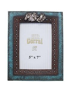 Tough1 Western Photo Frame Horse Head Leather Look Blue Brown 872181 ** Find out more about the great product at the image link.