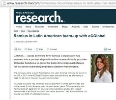 Congratulations to our sponsors @eCGlobal Solutions and @Ramius Corporation    eCGlobal Solutions partners with Ramius and brings to Latin America an online platform for qualitative studies. http://www.research-live.com/news/news-headlines/ramius-in-latin-american-team-up-with-ecglobal/4009436.article