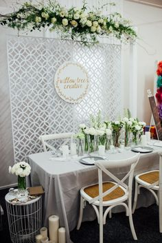 Blog - A Darling Affair A Darling Affair                                                                                                                                                                                 More Wedding Expo Booth, Bridal Show Booths, Booth Decor, Wedding Fayre, Wedding Trends, Wedding Vendors, Backdrops, Wedding Decorations, Booth Ideas