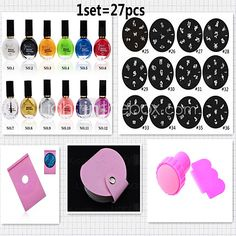 Nail Printing Template Packages(27pcs/set) - USD $16.14