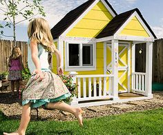Parents magazine featured the most charming play houses that Habitat built from their ReStores!  <3 When Dot Cada bid on this cheery playhouse built by an all-female crew of volunteers at a Habitat for Humanity fund-raising auction, her granddaughter Chloe was just 7 months old. She wanted to support the organization and knew Chloe would grow into it.