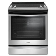 Whirlpool Smooth Surface 5-Element Slide-in Convection Electric Range (Stainless Steel) (Common: 30-in; Actual 29.875-in)