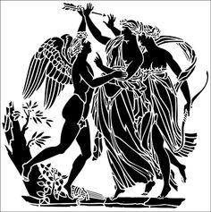 Eros stencil from The Stencil Library GENERAL range. Stencil Patterns, Stencil Designs, Vinyl Designs, Embroidery Patterns, Stencils Online, Large Stencils, Glass Engraving, Greek Art, Stencil Painting