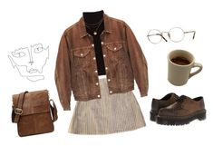 """""""brown sugar"""" by larynna ❤ liked on Polyvore featuring Marc Jacobs, Levi's, Dr. Martens and Oliver Peoples"""