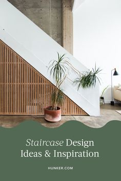 If you live in a multilevel home, you're probably thinking about what to do with your stairs. Whether you're making over your stairs out of necessity (if you've moved into an old home and they desperately need attention) or you simply want to give them a style overhaul, look no further than our handy guide to staircase ideas. #hunker #staircasedesign #staircaseideas Rustic Staircase, Staircase Railings, Curved Staircase, Staircase Design, Parts Of A Staircase, U Shaped Stairs, Number Stencils, Green Garland, Traditional Wallpaper