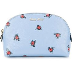 Miu Miu Miu Miu Ladybird Make-Up Pouch ($360) ❤ liked on Polyvore featuring beauty products, beauty accessories, bags & cases, bags, makeup, blue and miu miu